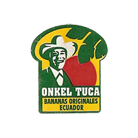ONKEL TUCA BANANAS ORIGINALES  21,9 x 25,3 mm paper 2012 NB Ecuador unique