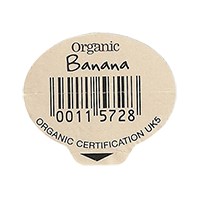 Organic Banana organic certification UK5  29,8 x 25,8 mm paper 2012 M unique
