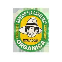 """ORGANICA RANCHO """"LA CAROLINA"""" COD: 94011  21,9 x 26,8 mm paper before 2012 Ecuador unique"""