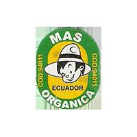 ORGANICA MAS COD: 94011  18,4 x 23,4 mm paper before 2012 NB Ecuador unique