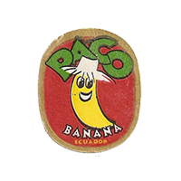 PACO BANANA  22,2 x 27 mm paper 2012 AA Ecuador unique