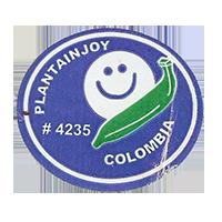 PLANTAINJOY # 4235  32,8 x 28,9 mm paper 2012 M Colombia unique