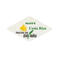 PRATT'S FRUTAS DE BATAAN  29,5 x 16,3 mm paper before 2012 AA Costa Rica unique
