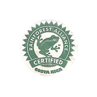 RAINFOREST ALLIANCE CERTIFIED  0 x 0 mm paper 2017 J Costa Rica unique