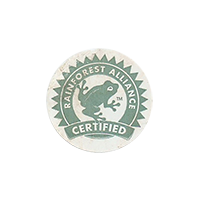RAINFOREST ALLIANCE CERTIFIED  20,7 x 20,7 mm paper 2012 m unique