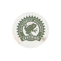 RAINFOREST ALLIANCE CERTIFIED  22,2 x 22,2 mm paper 2017 M unique