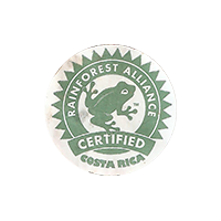 RAINFOREST ALLIANCE CERTIFIED  0 x 0 mm paper 2018 J Costa Rica unique