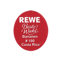 REWE Beste Wahl Bananen #100  22,1 x 25,2 mm paper 2013 NB  Costa Rica unique