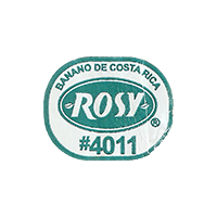 ROSY BANANO DE COSTA RICA #4011  25,1 x 19,9 mm paper 2017 ML Costa Rica unique