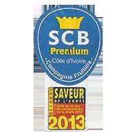 SCB Premium Compagnie Fruitiere SAVEUR  22 x 40 mm paper 2014 M Cote d'Ivoire unique