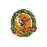 SOCIAL PREMIUM BANANAS ORGANIC BANANAS  21,9 x 24,3 mm paper 2016 J Ecuador unique