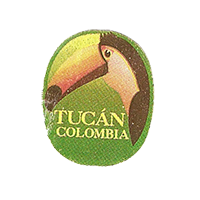 Tucan  21,9 x 26,5 mm paper before 2012 Colombia unique