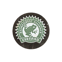 RAINFOREST ALLIANCE CERTIFIED (Tucan)  25,1 x 25,1 mm paper 2015 PM duplicate