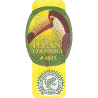 TUCAN # 4011 RAINFOREST ALLIANCE CERTIFIED  0 x 0 mm paper 2018 J Colombia unique
