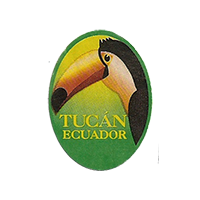 Tucan  20,4 x 27,6 mm paper before 2012 Ecuador unique