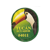 Tucan # 4011  21,5 x 26,5 mm paper before 2012 Ecuador unique