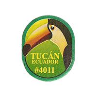 Tucan # 4011  21,4 x 26,7 mm paper 2013 M Ecuador unique