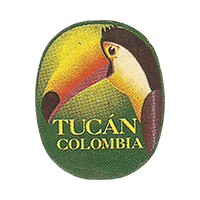Tucan  22 x 26,8 mm paper 2014 Colombia unique
