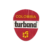 turbana  19,7 x 23,8 mm paper 2009 Colombia unique