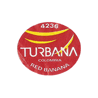 TURBANA RED BANANA 4236  22,5 x 19,1 mm paper 2014 J Colombia unique