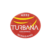 TURBANA MANZANO 4233  22,6 x 19 mm paper 2016 PM Colombia unique