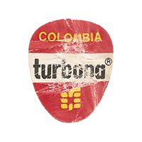turbana  21,3 x 25,9 mm paper 2017 MC Colombia unique
