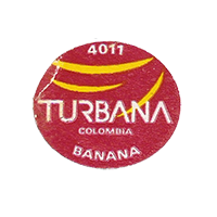 TURBANA BANANA 4011  26,8 x 23 mm paper before 2012 Colombia unique