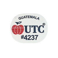 UTC #4237  25,2 x 20,1 mm paper before 2012 Guatemala unique