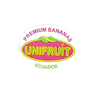 UNIFRUIT PREMIUM BANANAS  23,4 x 18,4 mm paper before 2012 J Ecuador unique