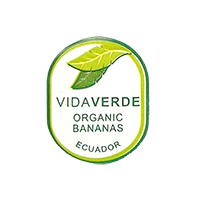 VIDAVERDE ORGANIC BANANAS  20,4 x 24,8 mm paper before 2012 Ecuador unique