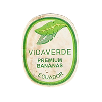 VIDAVERDE PREMIUM BANANAS  22 x 27,7 mm paper before 2012 TL Ecuador unique