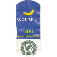 WATTAfruit! 4011 RAINFOREST ALLIANCE CERTIFIED  0 x 0 mm paper 2017 KČ Guatemala unique