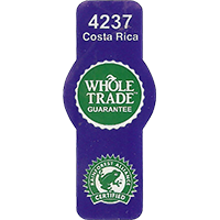 WHOLE TRADE GUARANTEE 4237 RAINFOREST CERTIFIED  19,8 x 47 mm paper 2016 PM Costa Rica unique